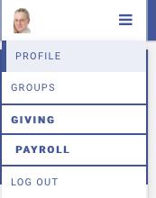 Engage Menu Payroll Tab