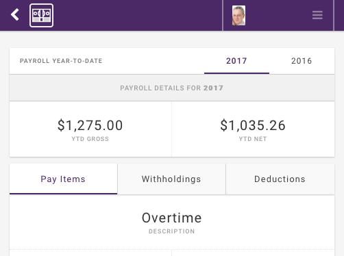 Engage Payroll Employee YTD Pay Summary