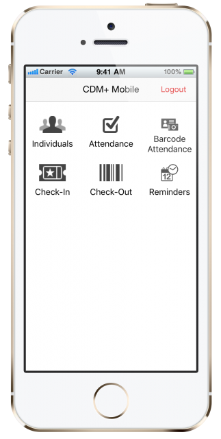 CDM+ Mobile app launcher