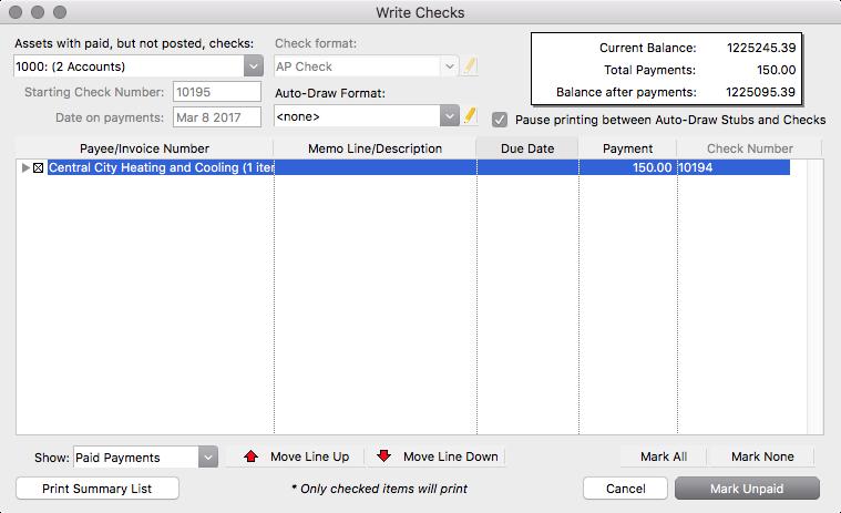 reprinting checks cdm knowledge base