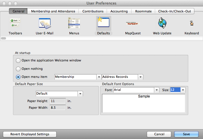Setting your User Preferences General Defaults to open a Welcome to [Program] window at startup
