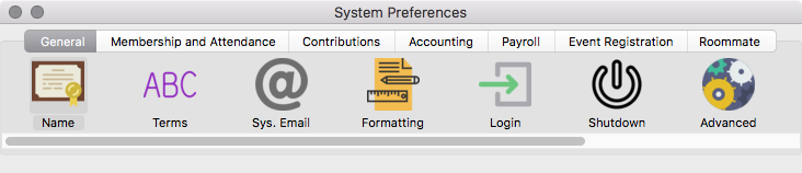 CDM+ System Preferences - General tab