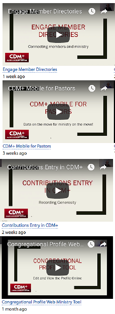 Watch training videos on the CDM+ Knowledge Base