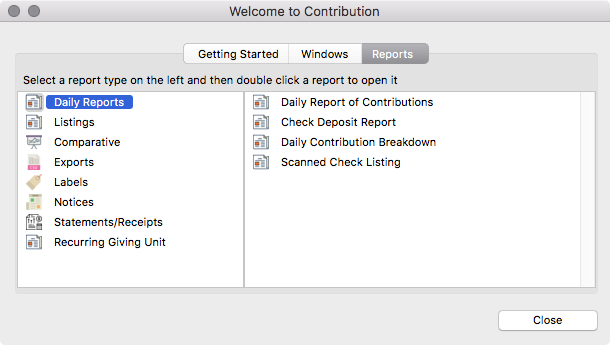 Welcome to CDM+ Contributions - Reports Pane