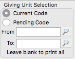Select which Giving Units will receive statements