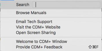 CDM+ Help Menu
