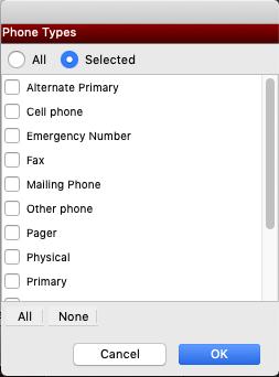 Phone Types